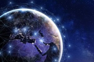 Communication network around Earth