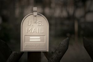 Silver U.S. Mailbox