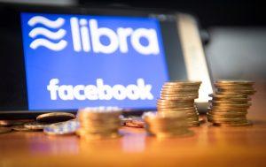 Facebook Libra Icon with Coins