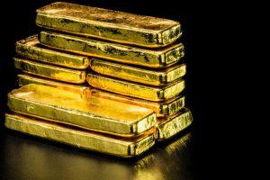 close up pure gold bar