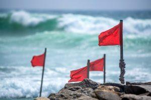Red warning flag