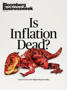 "Bloomberg Businessweek ""Is Inflation Dead?"" Cover"